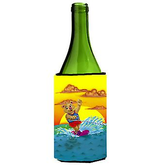 Teddy Bear Water Skiing Wine Bottle beverage insulator Hugger