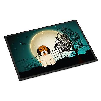 Halloween Scary Petit Basset Griffon Veenden Indoor or Outdoor Mat 18x27