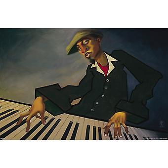 Justin Bua - Piano Man II Poster Poster Print