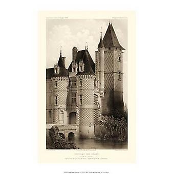 Kleine Sepia Chateaux VII Poster Print von Victor Petit (10 x 15)
