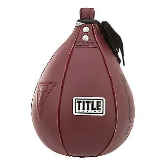 Titolo di boxe Ali velocità in pelle autentica - Maroon
