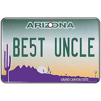 Arizona - Best Uncle License Plate Car Air Freshener