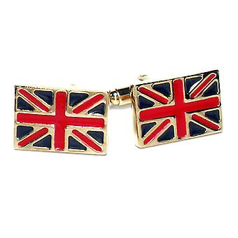 Gold-Tone Men's Cuff Links BRITISH FLAG Cufflinks