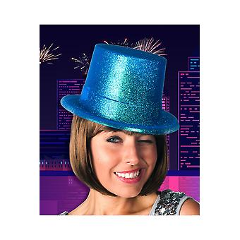Czapki kapelusz turkusowy Brokat