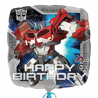 Amscan Transformers Happy Birthday Square folie ballon