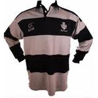Шотландия расторопши серый/флота полосатый регби рубашка, жить для регби Размеры XS - 3XL