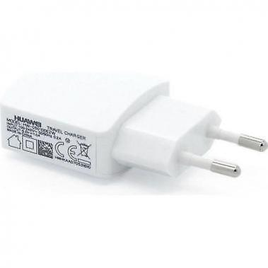Huawei HW-050200E3W power adapter 2A on USB travel charger, charging cable white