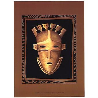 Afrikanska Mask III affisch Skriv av Chariklia Zarris (10 x 13)