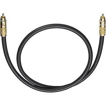 RCA audio/phono kabel [1x RCA plug (phono)-1x RCA plug (phono)] 6 m antraciet vergulde connectors Oehlbach NF 214 SUB