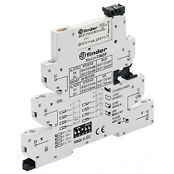Finder 39.81.0.024.0060-1 - MasterTIMER Electromechanical Relay Interface Module, EMR, SPDT-CO 250V AC 6A