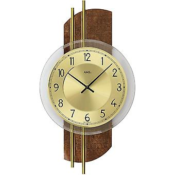 Quartz wall clock wall clock quartz design synthetic leather on wood rear wall