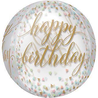 Anagram Happy Birthday Confetti Supershape Orbz Balloon