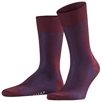 Falke fijne schaduw Midcalf sokken - Barolo Red/Navy