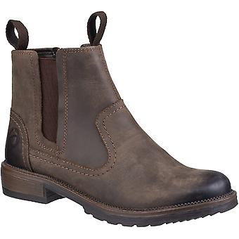 Cotswold Womens Laverton Slip On Leather Chelsea Ankle Boots