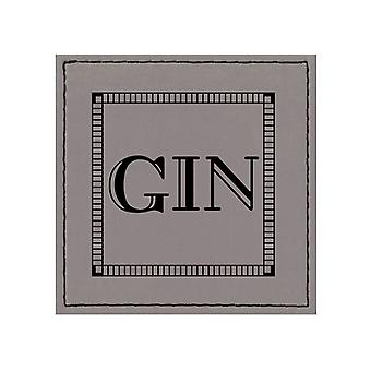 iStyle Faux Leather Gin Coaster, Grey
