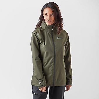 New Technicals Women's Descent Waterproof Full Zip Long Sleeve Jacket Khaki