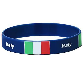 TRIXES イタリア シリコーン リストバンド - スポーツのトーナメントのためのブレスレット - 愛国心が強いサポート世界の出来事.