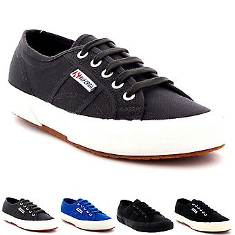 Mens Superga 2750 Cotu Classic laag bovenste Lace Up Plimsolls Casual Trainers