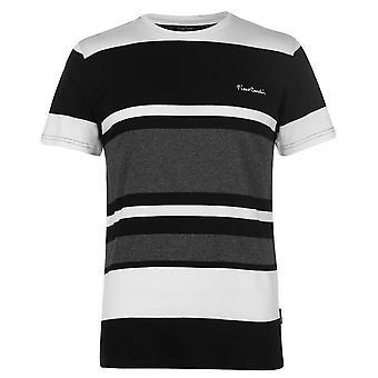 Pierre Cardin Herren Big Stripe T Shirt Rundhals T-Shirt Top Kurzarm Print