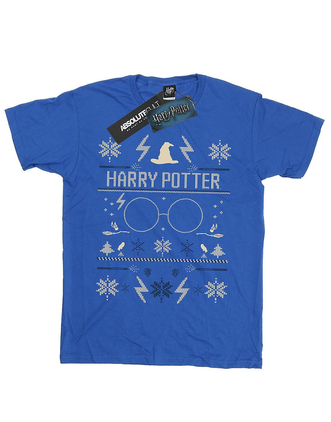 Harry Potter Men's Christmas Pattern T-Shirt