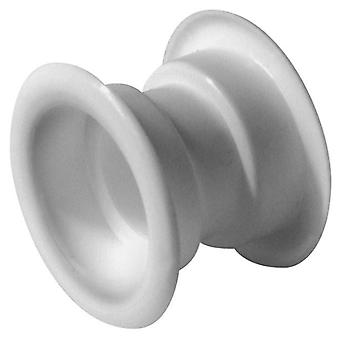 4x White Mini Circle Collar Air Vent Grille Set Door Ventilation Cover