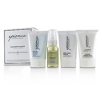 Epionce Essential Recovery Kit: Milky Lotion Cleanser 30ml+ Priming Oil 25ml+ Enriched Firming Mask 30g+ Renewal Calming Cream 30g - 4pcs