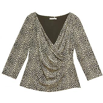 GINA BACCONI Top 2073 Black With Ivory