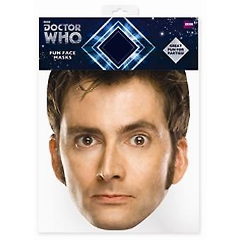 David Tennant Doctor Who Card Fancy Dress Maschera (Il Decimo Dottore)