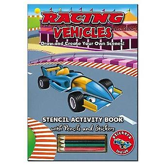 Activity Stencil Books - Racing Cars: Colouring & Activity