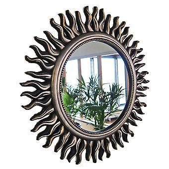 Mirror Wall Sun Black Gold 50cm