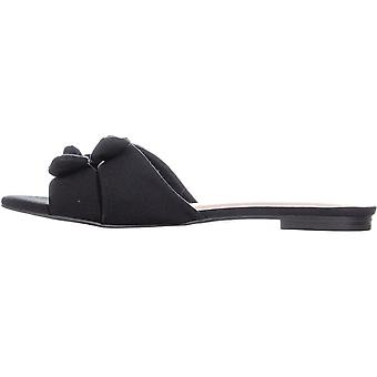 Nanette Lepore Womens Kendra Fabric Open Toe Casual Slide Sandals
