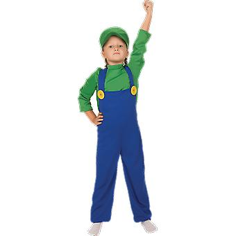 Orion kostuums kinderen Super Mario Luigi 80s retro video game fancy dress kostuum