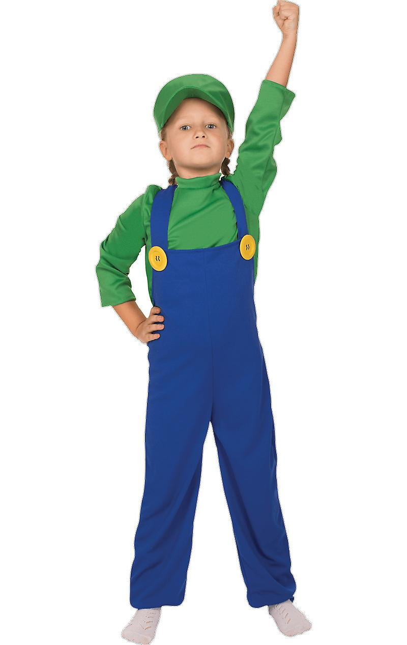 Orion Costumes Kids Super Mario Luigi 80s Retro Video Game Fancy