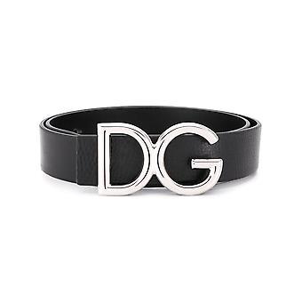 Dolce E Gabbana Bc4256ai89487653 Women's Black Leather Belt