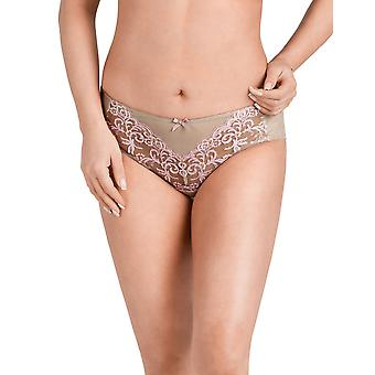 Nessa P1 Women's Juliette Beige Embroidered Brief