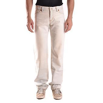 Andrew Mackenzie Ezbc245004 Mænd's Hvid Denim Jeans
