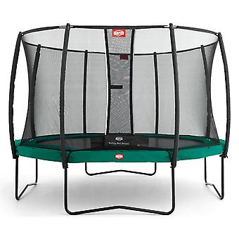 BERG Champion 270 9ft Trampoline+ Safety Net Deluxe Green