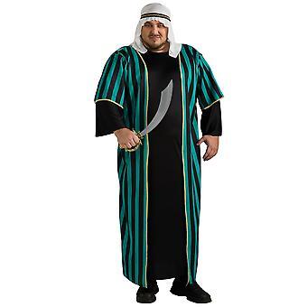 Désert de Genie arabe Sheik arabe Aladdin Prince Sultan Dress Up Mens Costume Plus