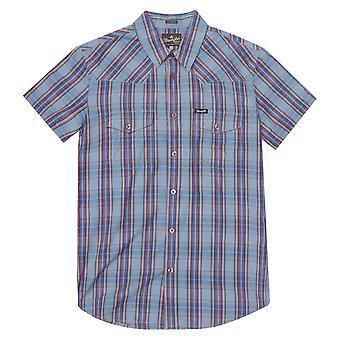 Wrangler Western check camisa-Ashley Blue