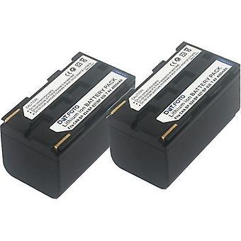 2 x batería de recambio BP-924, 927 BP, BP-930 Dot.Foto Canon - 7.4v / 4000mAh