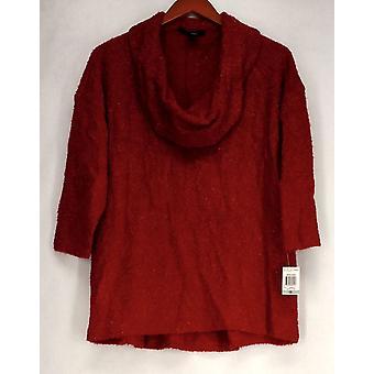 Estilo & Co. Plus camisola pescoço capuz metálico camisola amore vermelho