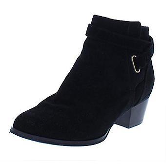 Giani Bernini Womens Oleesiar Leather Almond Toe Ankle Clog Boots