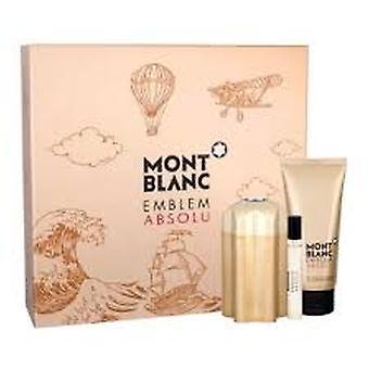 Mont Blanc emblema absolu Gift Set 100ml EDT + 100ml gel de banho + 7.5 ml EDT