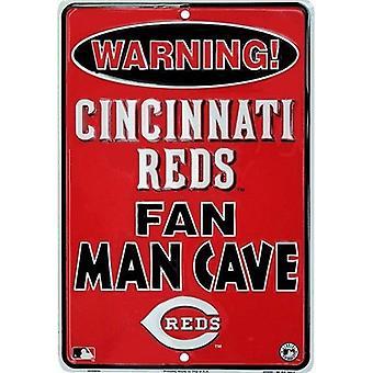 Cincinnati Reds MLB Fan Man Cave Parking Sign