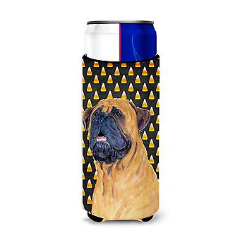 Mastiff Candy Corn Halloween Portrait Ultra Beverage Insulators for slim cans SS