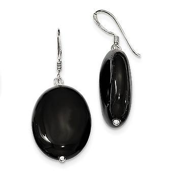 925 מחזיק שפרד כסף עגילי אגת שחור תכשיטים מתנות לנשים