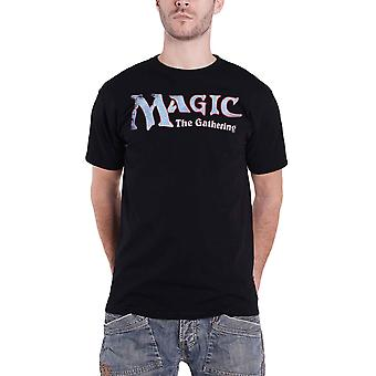 Magic The Gathering T Shirt Distressed Logo new Official Mens Black