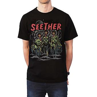 Seether T Shirt Mind Control Band Logo new Official Mens Black