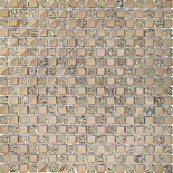 Mosaik D-Zeichen Kristall Doppel Gold