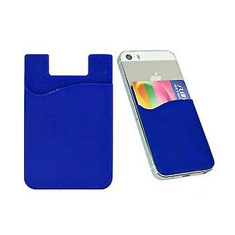 Silikon sock wallet card cash pocket sticker blue